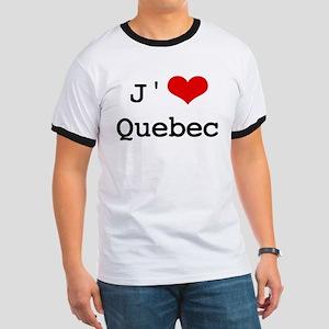 J' [heart] Quebec Ringer T